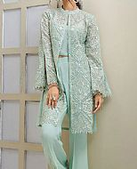 Light Sea Green Net Suit- Pakistani Designer Chiffon Suit
