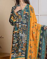 Green/Yellow Khaddar Suit- Pakistani Winter Dress
