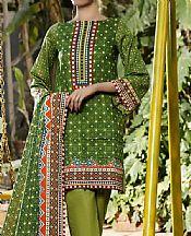 Parrot Green Lawn Suit- Pakistani Designer Lawn Dress