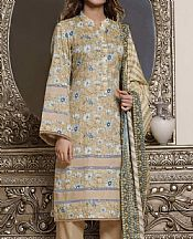 Sand Gold Lawn Suit- Pakistani Lawn Dress
