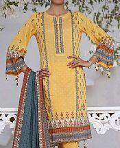 Golden Yellow Lawn Suit- Pakistani Lawn Dress