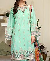 Mint Green Lawn Suit- Pakistani Designer Lawn Dress