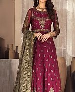Crimson/Olive Chiffon Suit- Pakistani Chiffon Dress