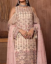 Off-white/Pink Chiffon Suit- Pakistani Chiffon Dress