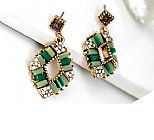 Women Earrings - Green