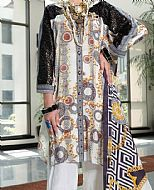 Off-White Viscose Silk Suit- Pakistani Winter Dress