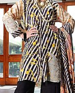 Beige Viscose Silk Suit- Pakistani Winter Dress