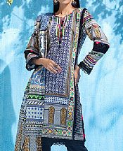 Grey/Blue Lawn Suit- Pakistani Lawn Dress