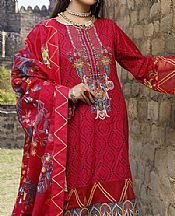 Scarlet Lawn Suit- Pakistani Designer Lawn Dress