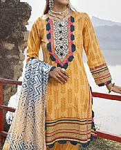 Sand Gold Lawn Suit- Pakistani Designer Lawn Dress
