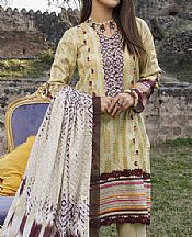 Cream Lawn Suit- Pakistani Lawn Dress