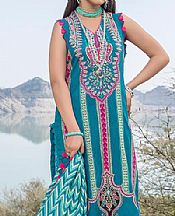 Teal Blue Lawn Suit- Pakistani Lawn Dress