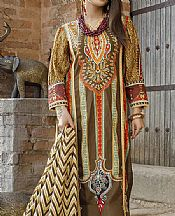 Walnut Brown Lawn Suit- Pakistani Lawn Dress