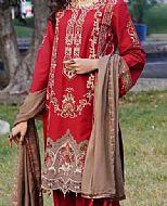 Crimson Linen Suit- Pakistani Winter Dress