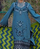 Turquoise Linen Suit- Pakistani Winter Clothing