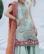 Sky Blue Net Suit- Pakistani Chiffon Dress