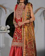 Red Chiffon Suit- Pakistani Designer Chiffon Suit