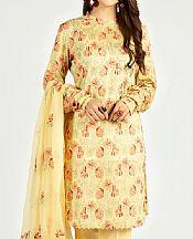 Light Golden Lawn Suit- Pakistani Designer Lawn Dress