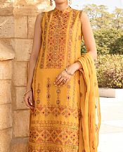 Orange Lawn Suit- Pakistani Designer Lawn Dress