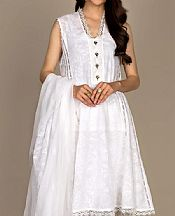 White Lawn Suit- Pakistani Designer Lawn Dress