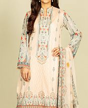 Ivory Lawn Suit- Pakistani Designer Lawn Dress