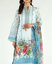 Light Blue Lawn Suit- Pakistani Designer Lawn Dress