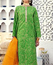 Green Jacquard Suit- Pakistani Lawn Dress
