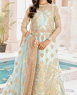 Light Turquoise Net Suit- Pakistani Chiffon Dress