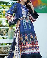 Royal Blue Khadder Suit- Pakistani Winter Dress