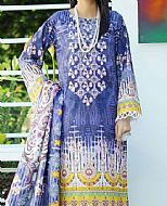 Blue/Yellow Khadder Suit- Pakistani Winter Dress