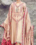 Peach Jacquard Suit- Pakistani Designer Chiffon Suit