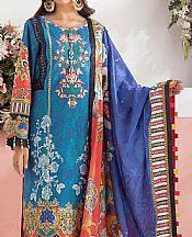 Teal/Royal Blue Lawn Suit- Pakistani Designer Lawn Dress
