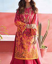 Magenta Lawn Suit (2 Pcs)- Pakistani Lawn Dress
