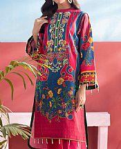 Magenta/Blue Lawn Suit (2 Pcs)- Pakistani Lawn Dress