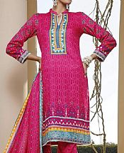 Magenta Lawn Suit- Pakistani Designer Lawn Dress