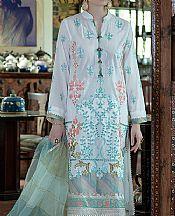 White Lawn Suit- Pakistani Lawn Dress