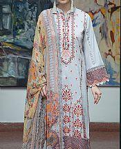 Light Grey Lawn Suit- Pakistani Lawn Dress