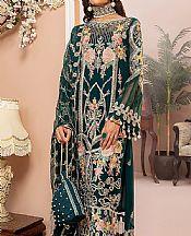 Teal Chiffon Suit- Pakistani Designer Chiffon Suit