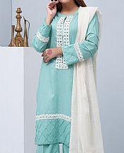 Sky Blue Cotton Suit- Pakistani Winter Clothing