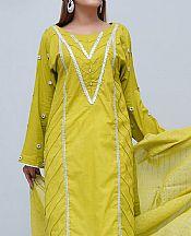 Lime Green Cotton Suit- Pakistani Winter Clothing