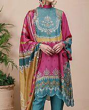 Magenta Grip Suit- Pakistani Designer Chiffon Suit
