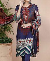 Navy Blue Grip Suit- Pakistani Designer Chiffon Suit