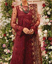 Burgundy Organza Suit- Pakistani Chiffon Dress