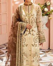Off-white Organza Suit- Pakistani Chiffon Dress