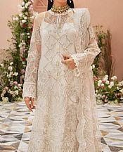 Off-white Organza Suit- Pakistani Designer Chiffon Suit