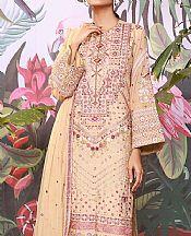 Ivory Cotton Net Suit- Pakistani Chiffon Dress