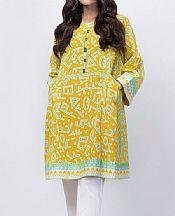 Golden Yellow Lawn Kurti- Pakistani Designer Lawn Dress