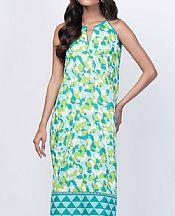 Cyan/White Lawn Kurti- Pakistani Lawn Dress