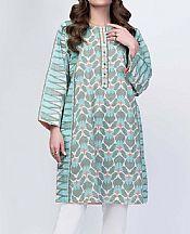 Sky Blue/Grey Lawn Kurti- Pakistani Designer Lawn Dress