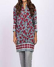 Grey/Red Khaddar Kurti- Pakistani Winter Dress